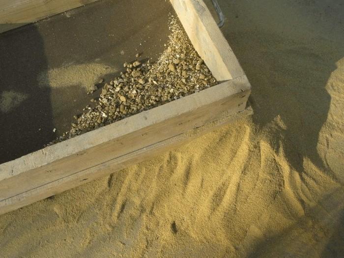 Карьерный песок нуждается в дополнительной очистке