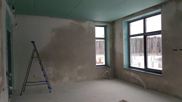 Для сушки стен не применяют калориферы или вентиляторы