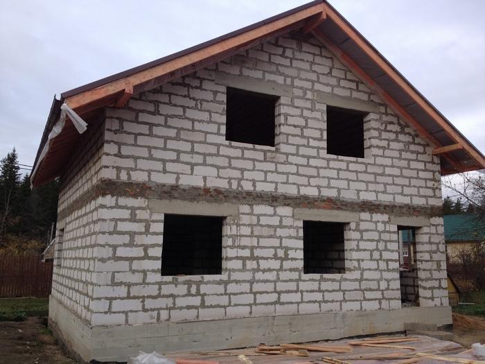 Газобетон часто используют для возведения стен
