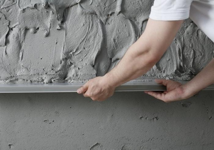 Штукатурка по бетону наносится в три слоя