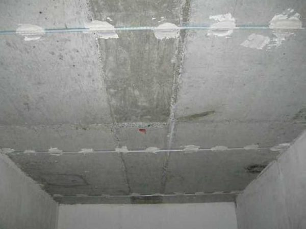 Маяки для штукатурки потолка