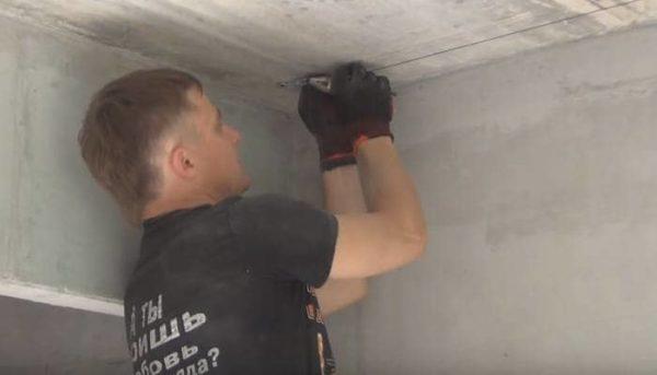 Веревка для штукатурки потолка