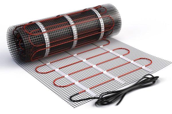 электрический теплый пол в плиточный клей