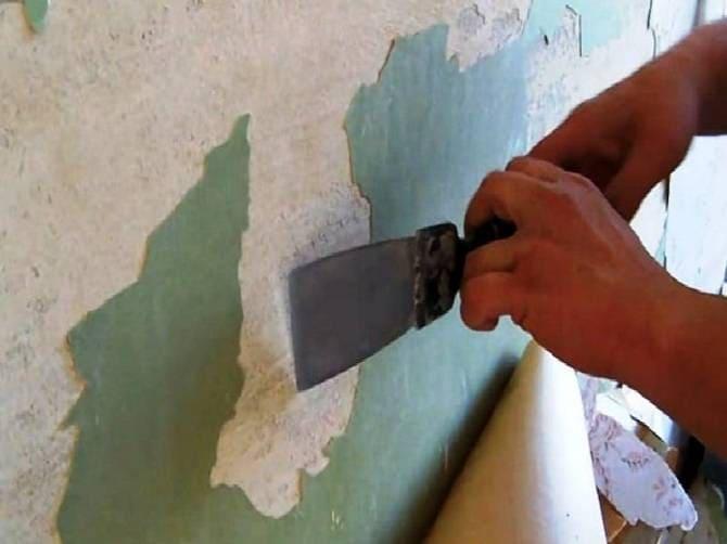 Удаление краски для подготовки стен под жидкие обои