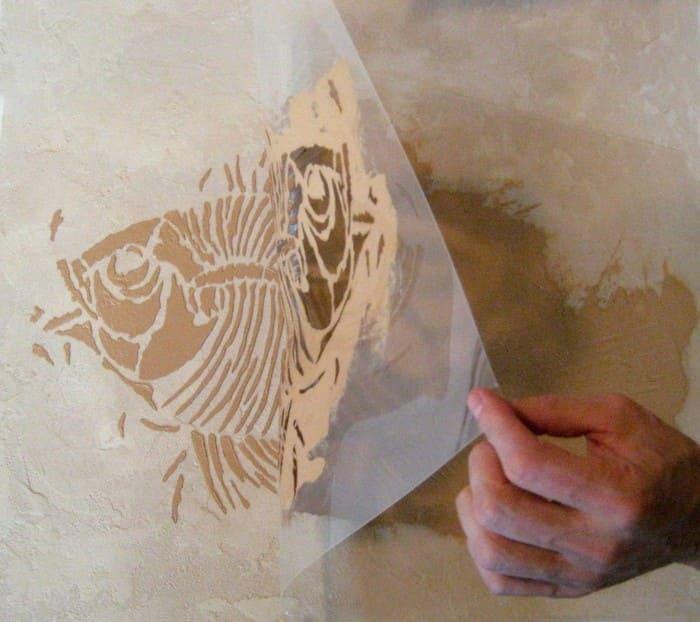 Трафареты для нанесения орнамента на стены
