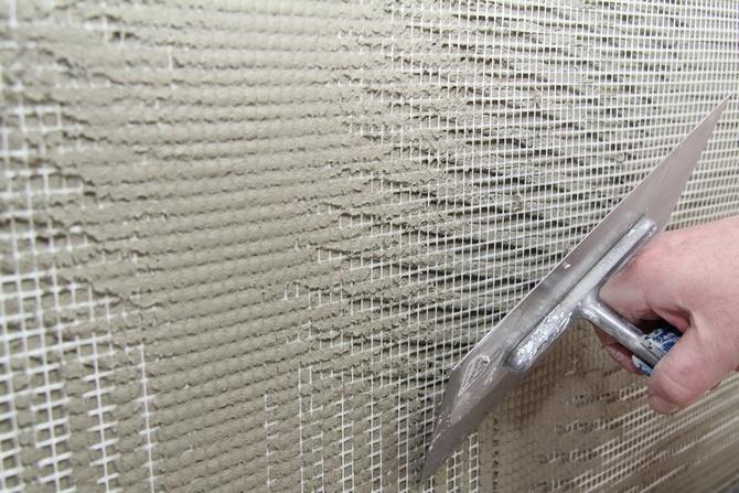 Армирующая сетка для лучшей сцепки с раствором