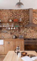 Кухня из кирпича