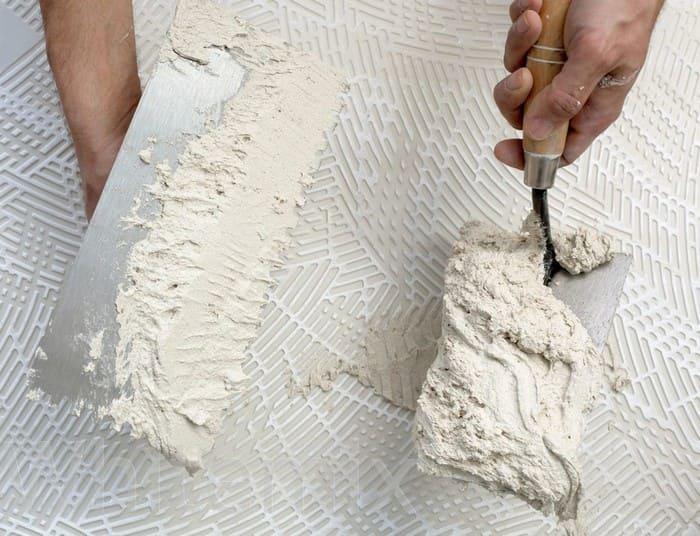 Белая гипсовая штукатурка