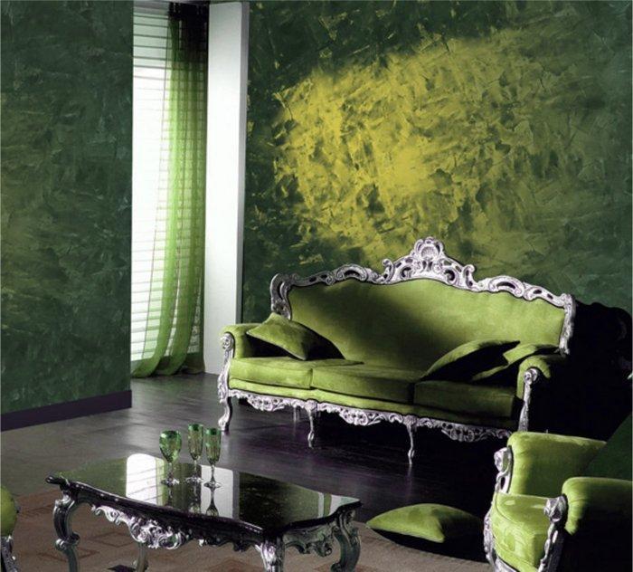Зеленый цвет формирует комфортную обстановку