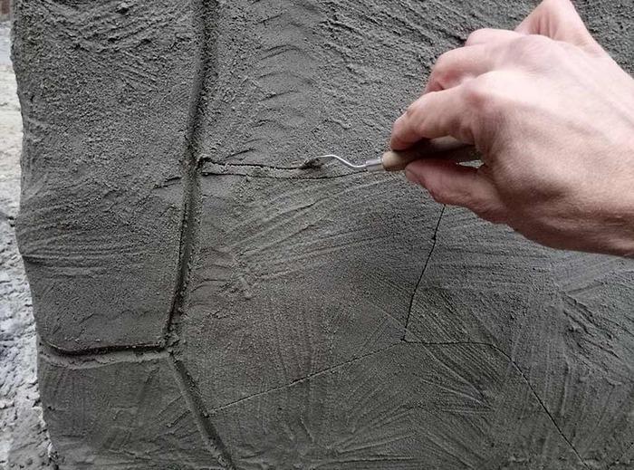 Имитация камня штукатуркой – экономное и быстрое решение