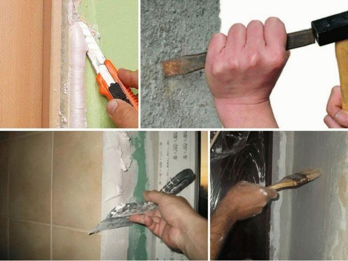 Первым этапом работ является подготовка поверхностей