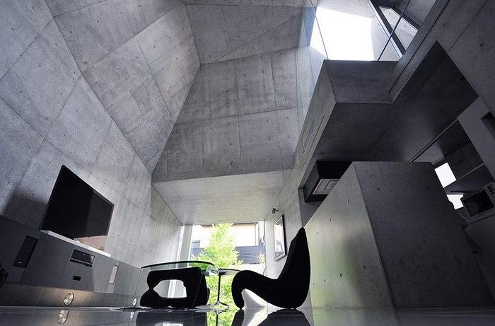 Для стиля хай-тек бетонная текстура характерна больше всего