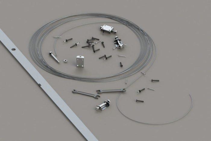 Для установки струнных маяков нужно иметь при себе саморезы, нить или проволоку и дрель