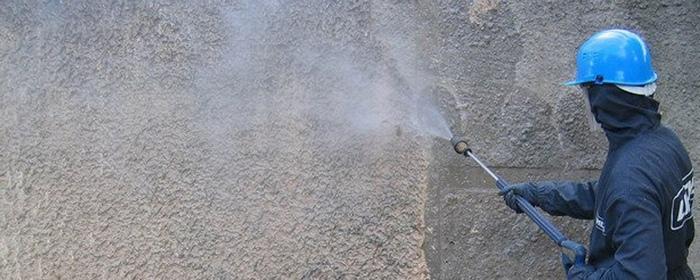 Гидроструйная очистка может пагубно повлиять на штукатурку
