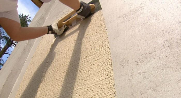 Использование силиконовой штукатурки допускается для любых стен