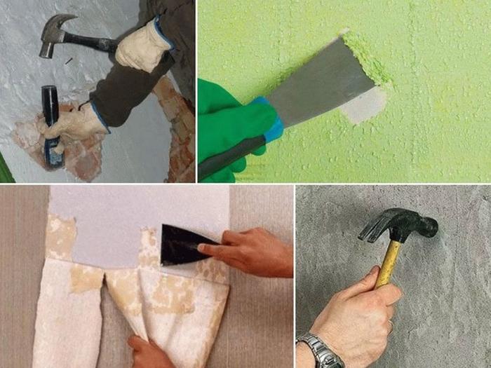 Подготовительные работы должны обеспечить плотное прилегание штукатурки к стене