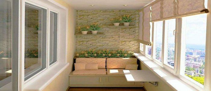 Штукатурка балкона – одно из самых удачных средств сделать его комфортным и уютным