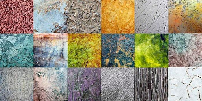 Структуру штукатурке придают различные волокна или камушки различной фракции