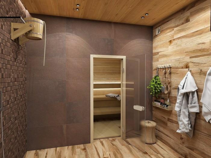 Для внутренней отделки бани популярны гипсовые и цементные штукатурки