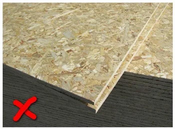 Гипсовые и цементные составы не подходят для работы по ОСБ
