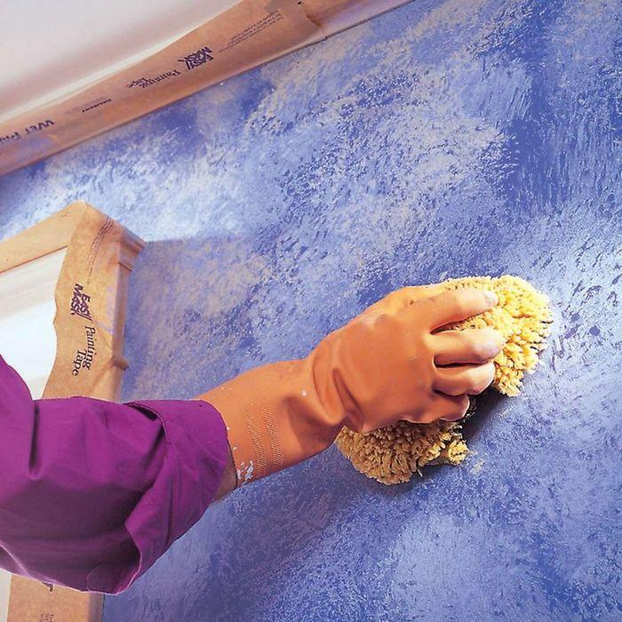 Декоративная покраска стен – один из популярных видов отделки