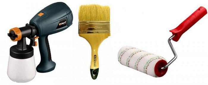 От выбранной техники нанесения красочного слоя зависит и выбираемый инструмент
