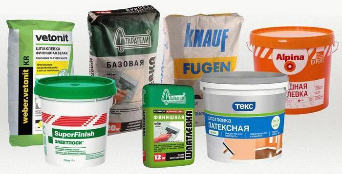 Современные производители имеют в своем арсенале широкий спектр исходного составляющего для шпаклевок