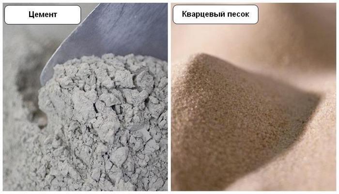 В состав штукатурки Микроцемент входит смесь из цемента и кварцевого песка мелкого помола