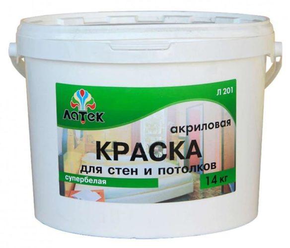 Акриловая краска замешана на основе полимеров сложных эфиров кислот