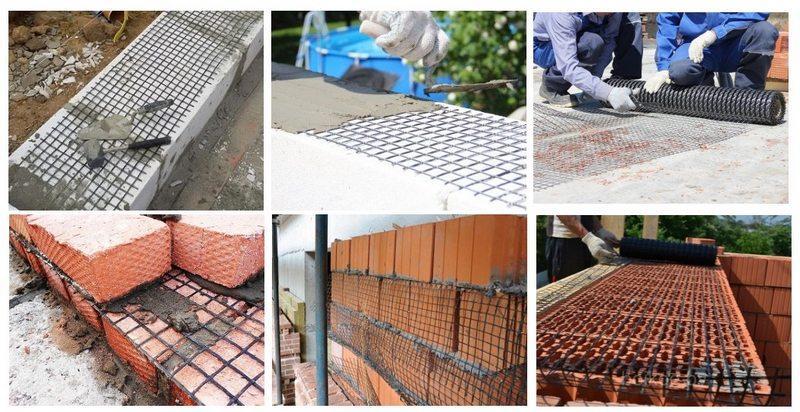 Армированная сетка из металла подходит для внешних работ