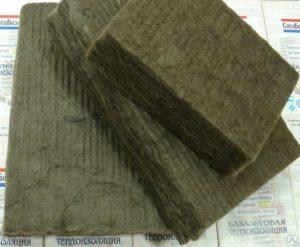 Базальтовая каменная вата обладает огнеупорными свойствами