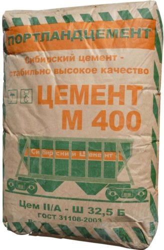 Если используется марка М400, то в расчетах берут соотношение 1 к 4