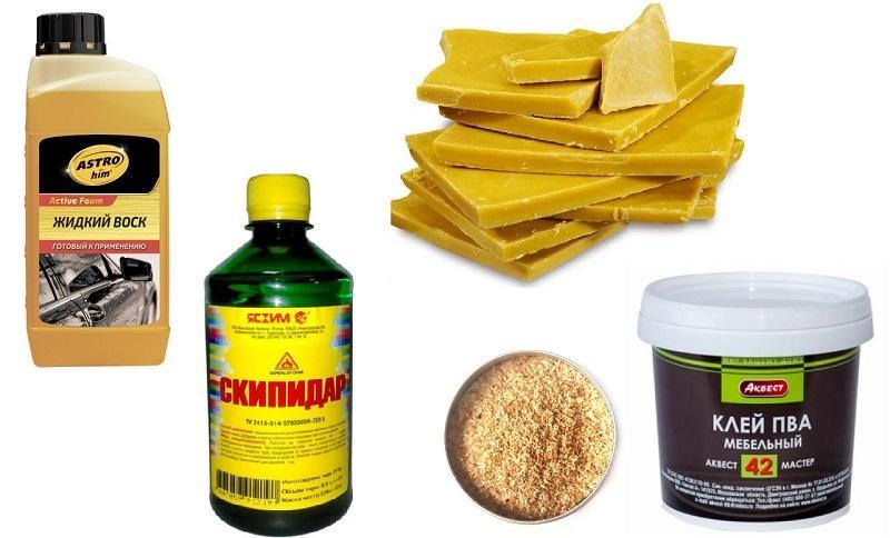 Компоненты для изготовления самодельной грунтовки