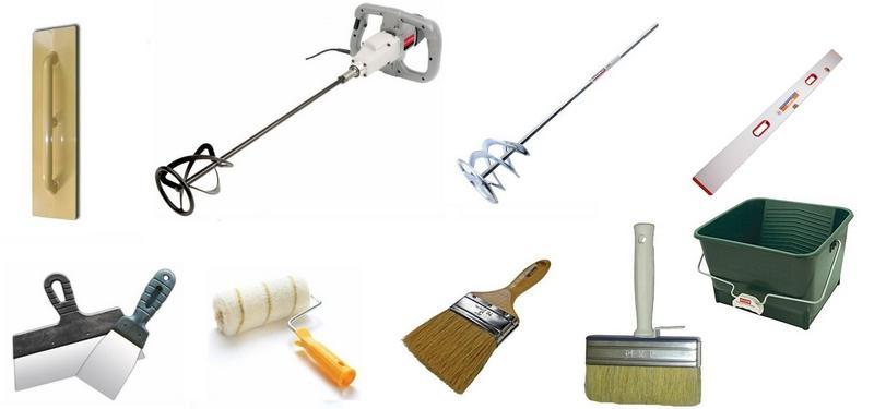 Инструменты для шпатлевания стен под обои