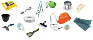 Инструменты, которые понадобятся для шпаклевания потолка