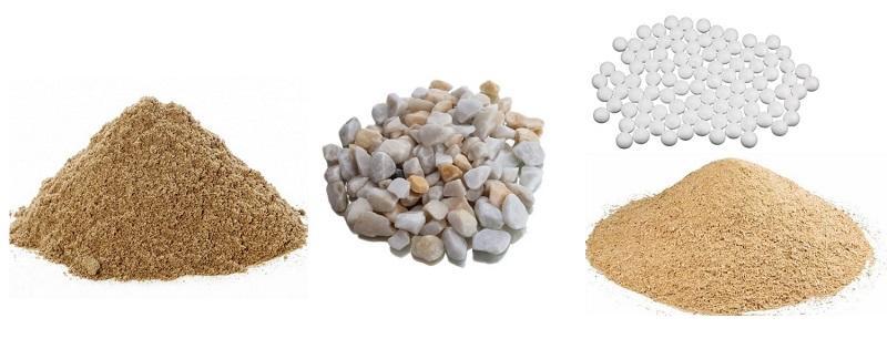 Компоненты для изменения текстуры шпаклевочного материала