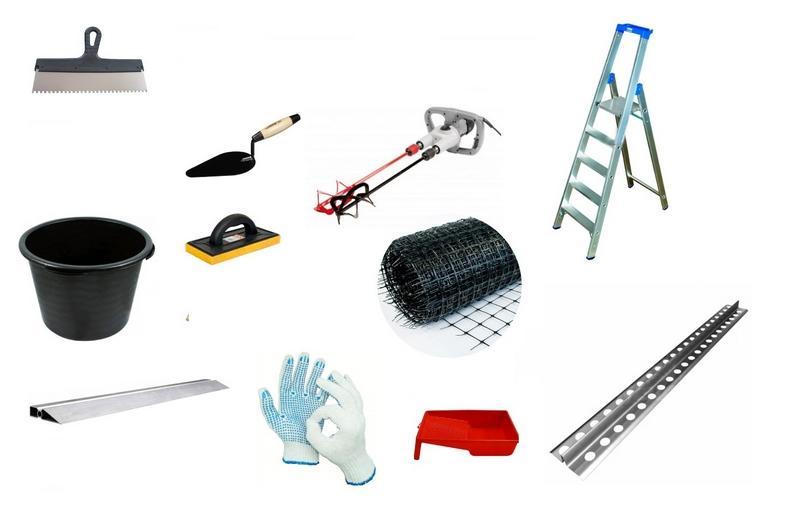 Набор инструментов, который понадобится для шпаклевания стен