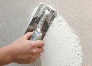 Обработка стен выполняется фрагментарно