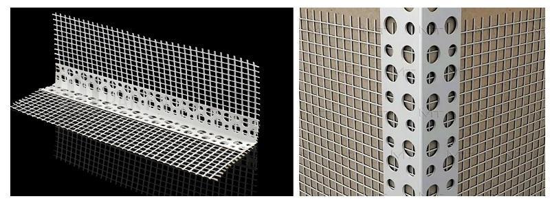 Оштукатурить ровно откосы можно с помощью алюминиевых перфорированных уголков