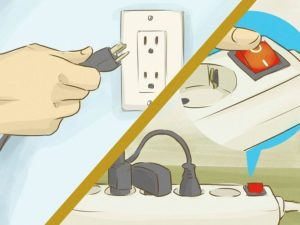По окончании работ электрические приборы, в том числе и осветительные, следует отключить
