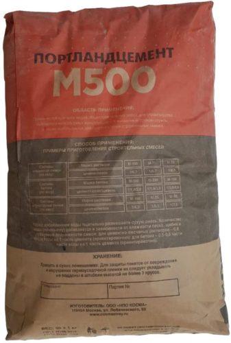 При расчете для марки М500 что берут соотношение 1 к 5