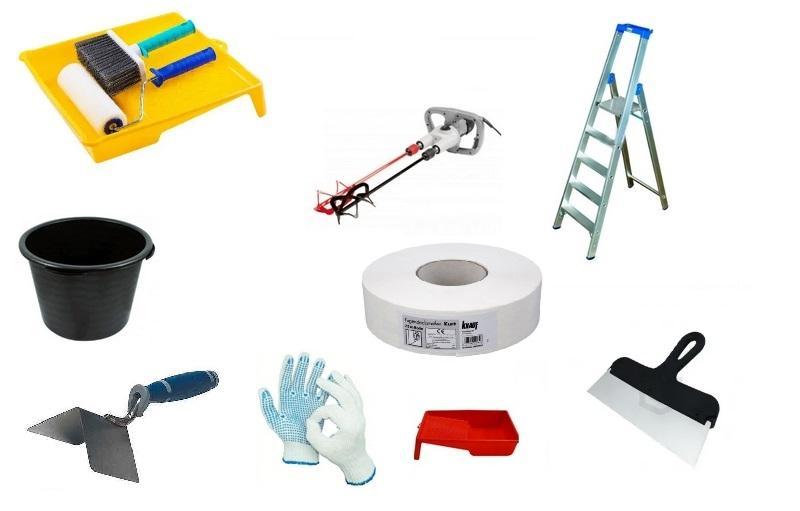 Рабочие инструменты для шпаклевания стен