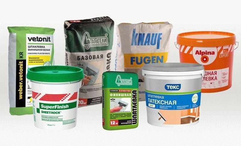 Шпаклевочная смесь подбирается в соответствии с областью применения и масштабом работ