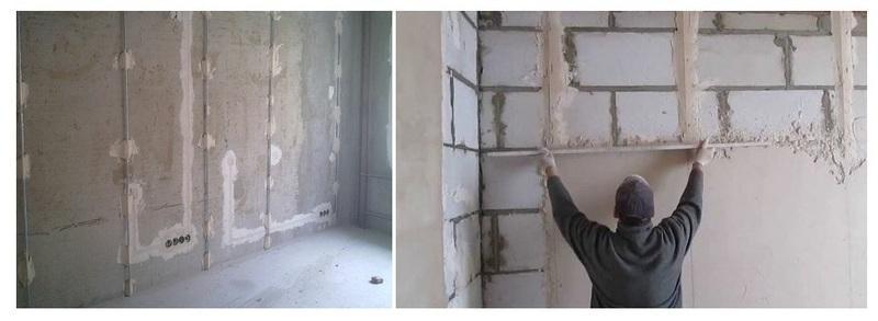 Штукатурка стен по маякам – легкий и доступный способ качественного выравнивания поверхностей