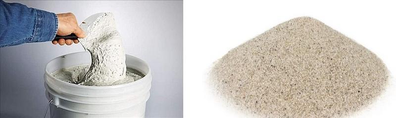 В состав стартовой шпаклевки входит кварцевый песок