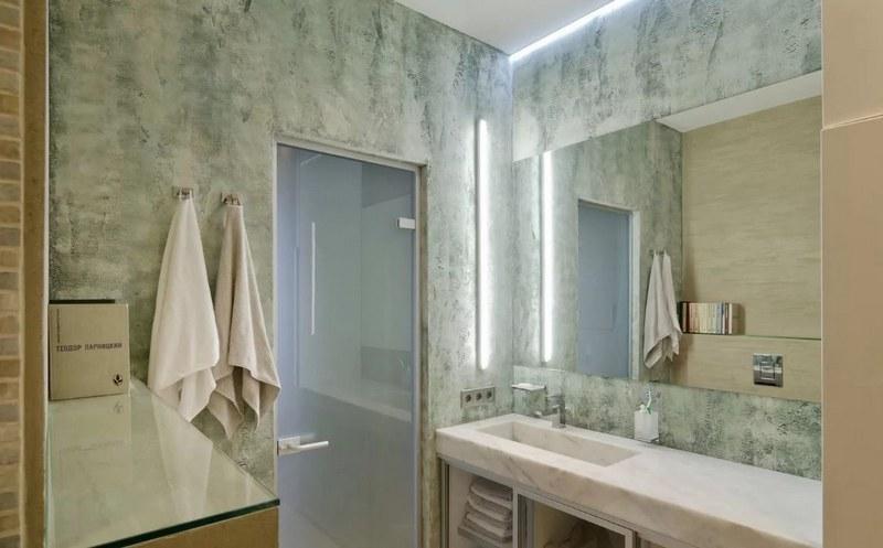 Венецианская штукатурка в ванной комнате придаст помещению изысканность и индивидуальный стиль