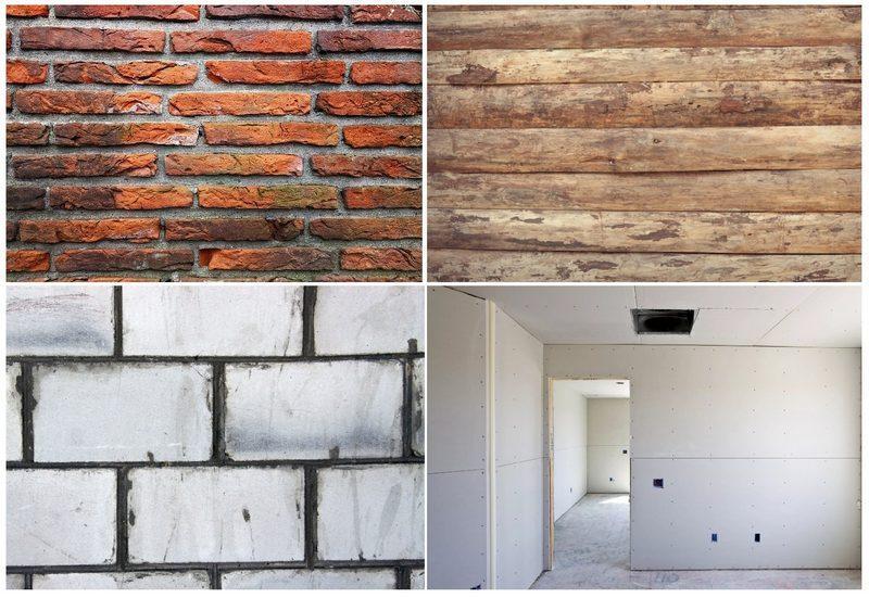 Виды стен, для которых требуется дополнительное выравнивание раствором и грунтование