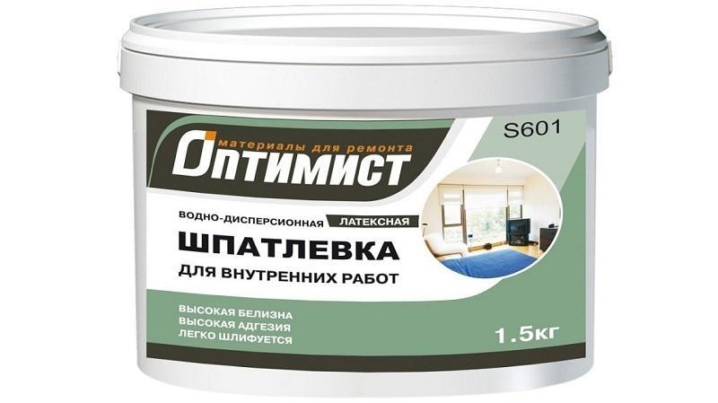 Водно-дисперсионная шпатлевка - экологически чистый материал, легкий в нанесении
