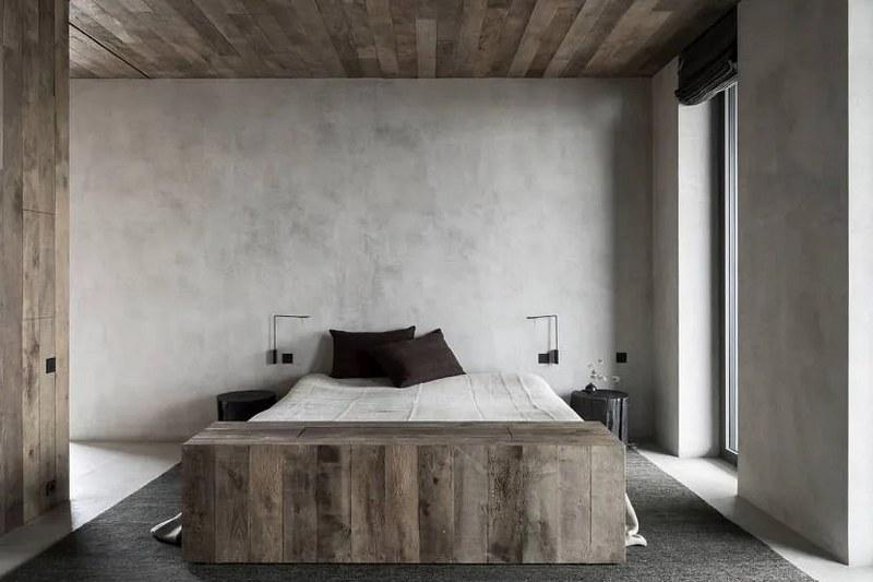 Штукатурка арт-бетон в интерьере