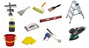 Инструменты для шпаклевки фанеры
